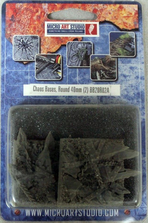 2 WRound 40mm Chaos Bases - *MicroArtStudio*